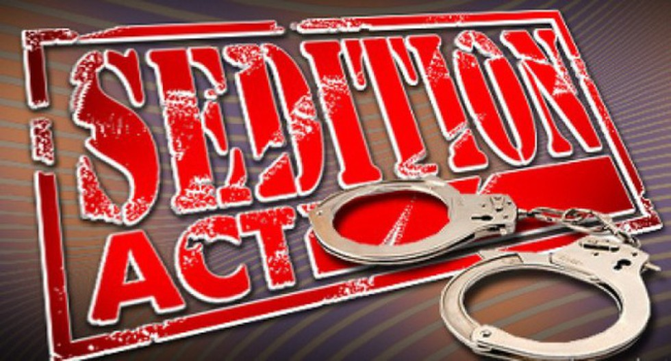 Two residents of Lucknow were booked for sedition for ...