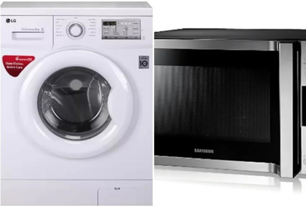microwave ovens and washing machines
