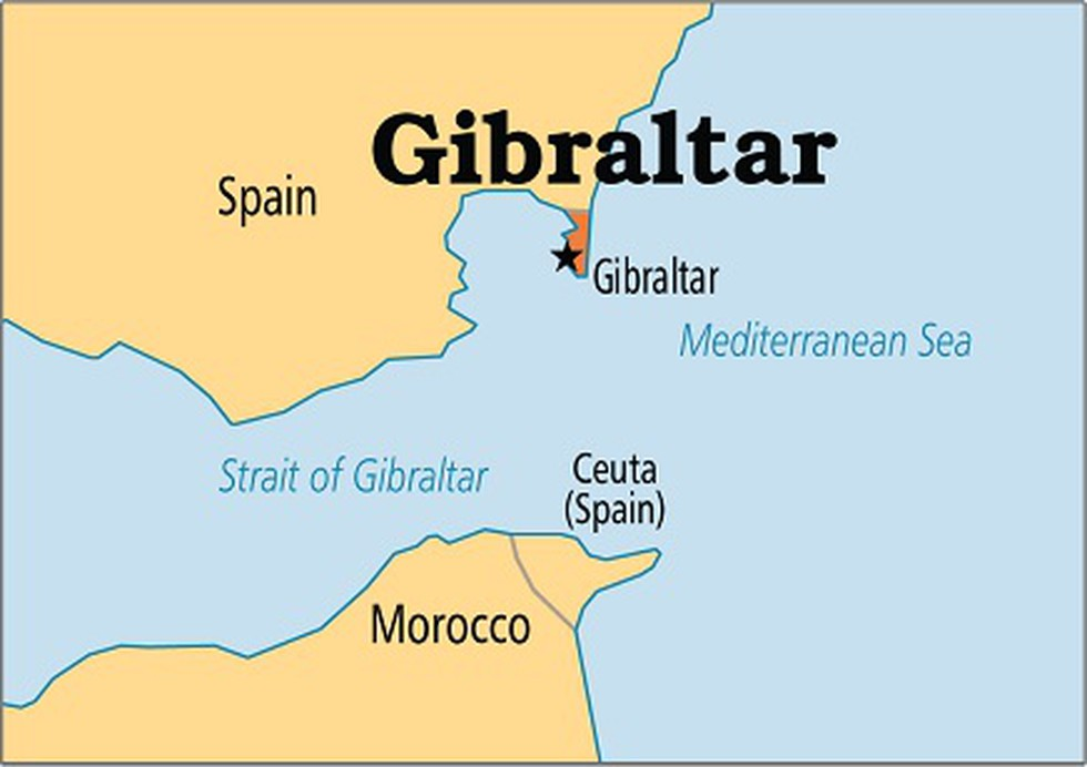 straits of gibraltar on world map Gibraltar S Supreme Court Ruled That A Seized Iranian Tanker
