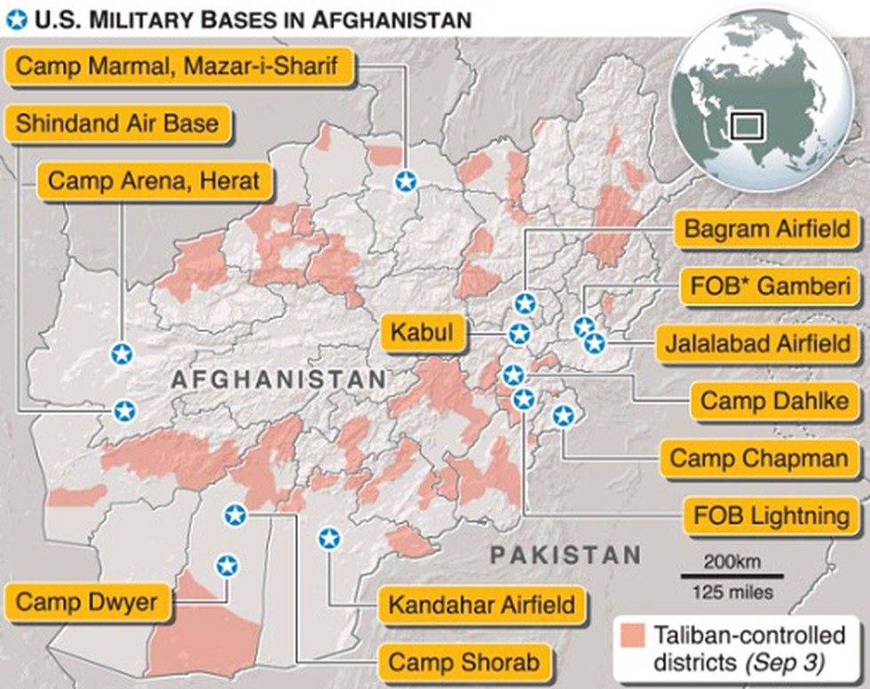 fob lightning afghanistan map U S Envoy Announced A Draft Troop Pullout Deal With Taliban fob lightning afghanistan map