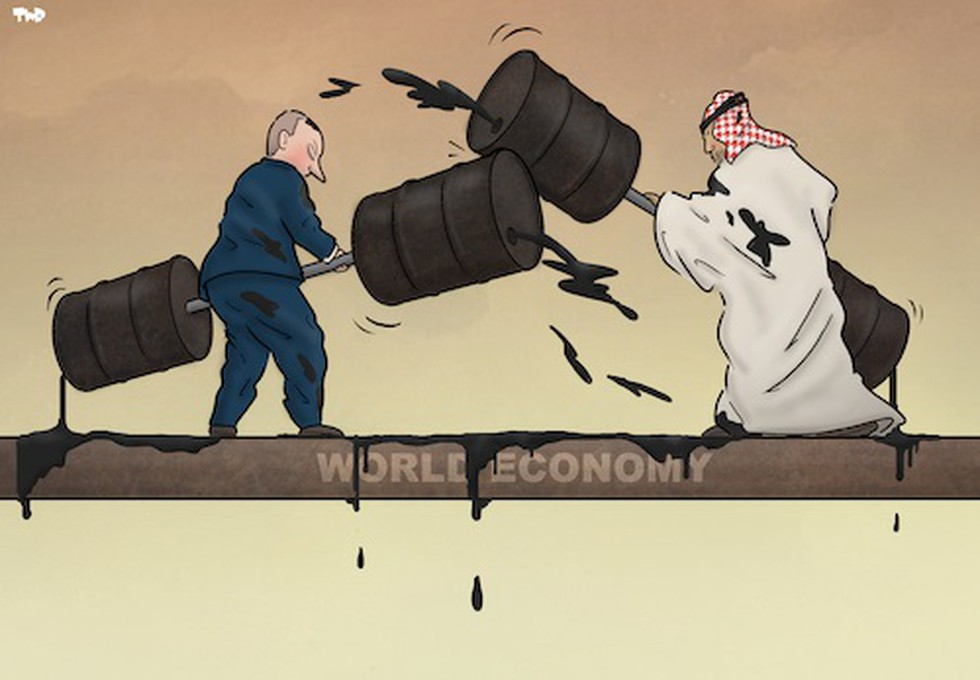 Oil prices saw their biggest single-day crash in almost 30 years ...